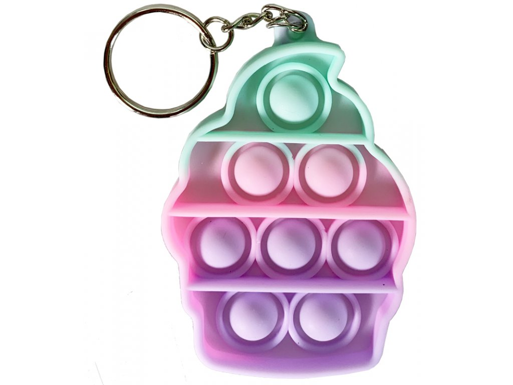 Antistresová klíčenka POP IT Zmrzlina barevná (330)