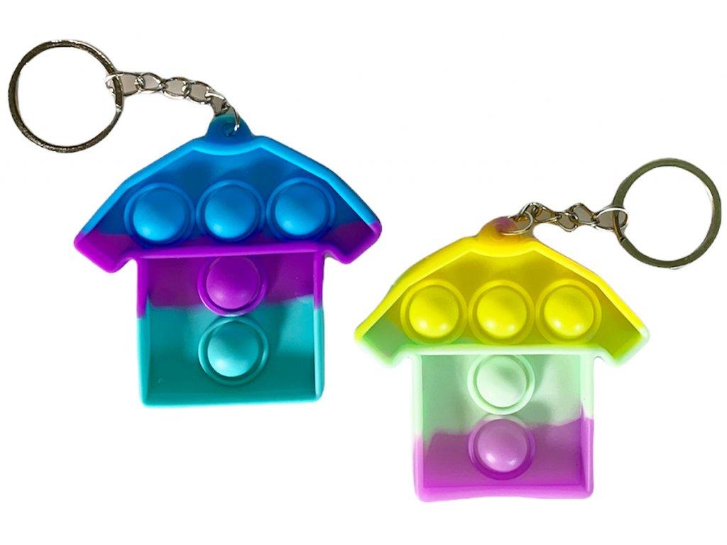 Antistresová klíčenka POP IT tričko barevné (332)