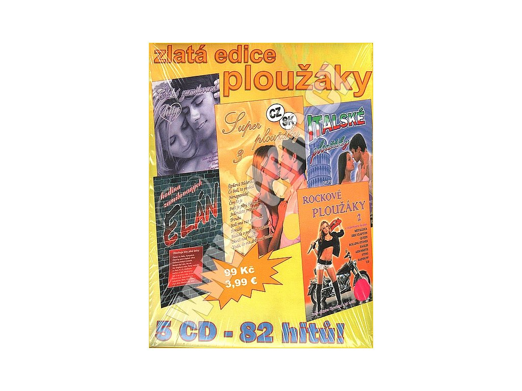 Zlatá edice ploužáky - 5CD papírový obal
