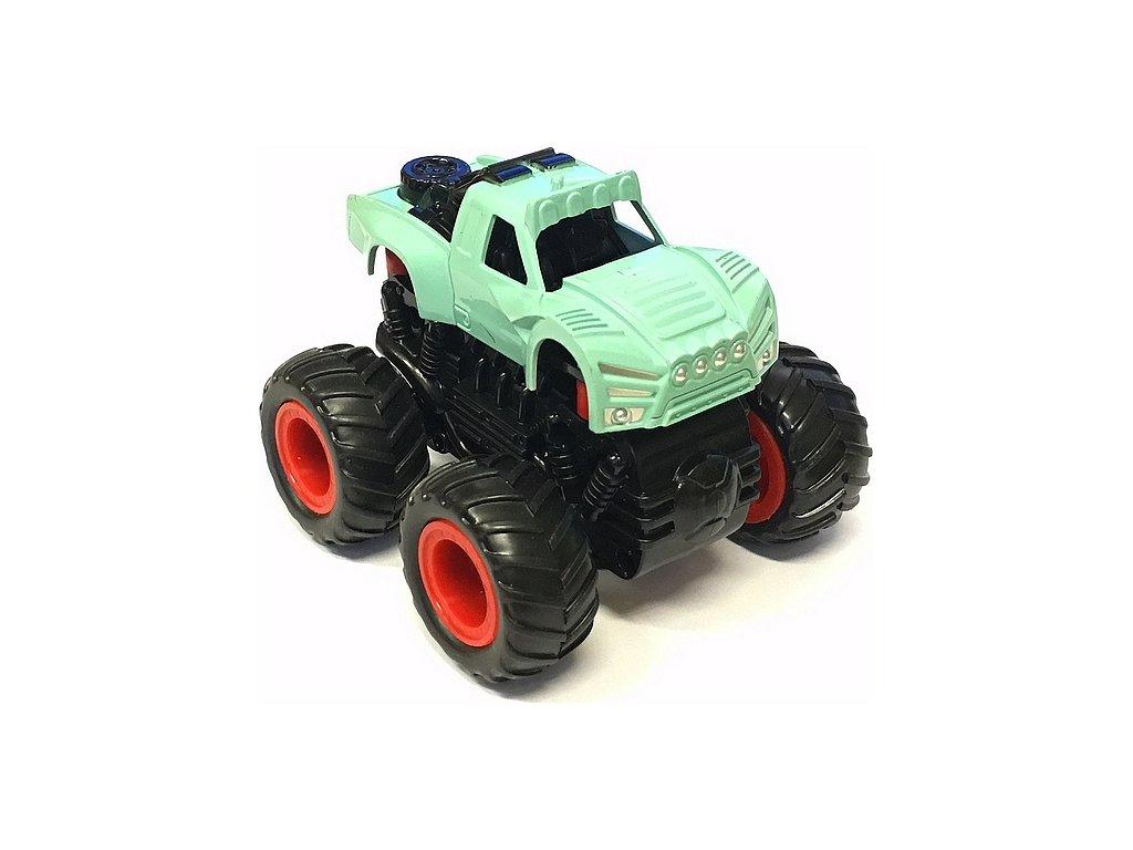 Small Monster 4x4 SUV auto na setrvačník 9cm tyrkysové