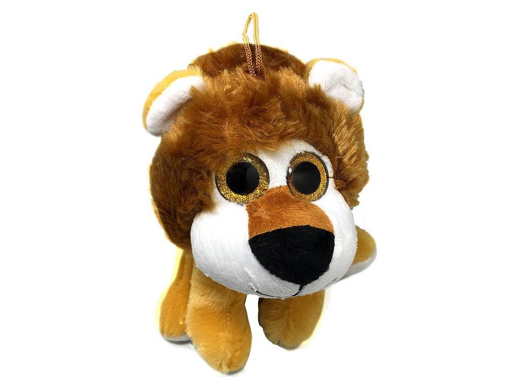 Mikro Zvířátko plyšové velké oči 20cm 0m+ lev
