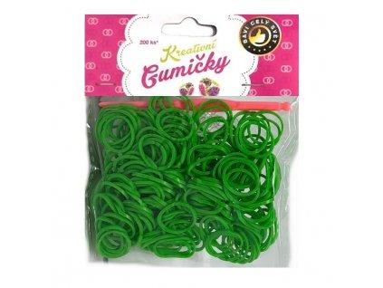 Loom Bands Pletací gumičky zelené 3, 200ks + háček