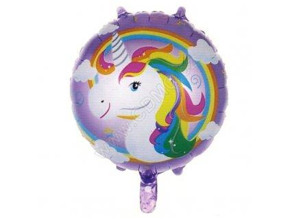 Nafukovací balónek kulatý Jednorožec 45 cm