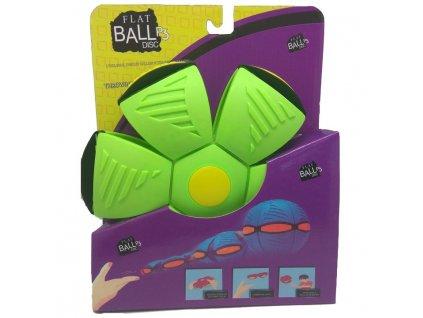 Flat Ball Disc se světlem - Zelený (4637)