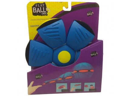 Flat Ball Disc se světlem - Modrý (4637)