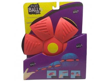 Flat Ball Disc se světlem - Červený (4637)