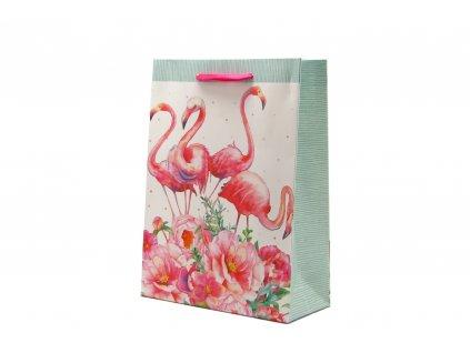 Dárková taška malá Plameňák (0019)