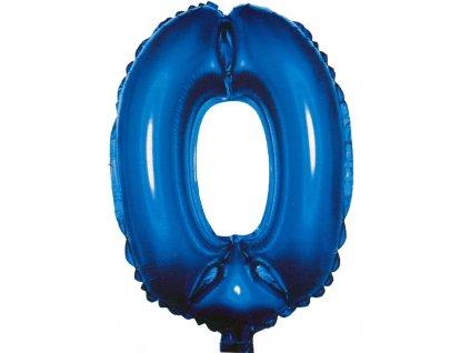 Fóliový balónek modrý číslo 0 - 82 cm (4514)