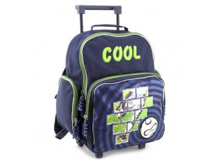 Školní batoh trolley Cool fotbal-zelený (7583)