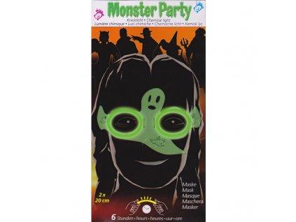 Monster party maska duch svítící ve tmě (1012)