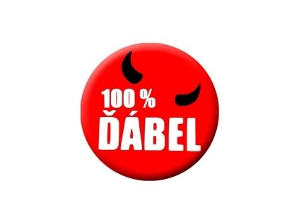 Placka 100% Ďábel 25mm (001)