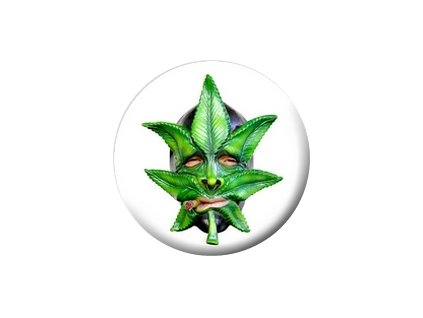 Placka Marihuana Mask 25mm (002)