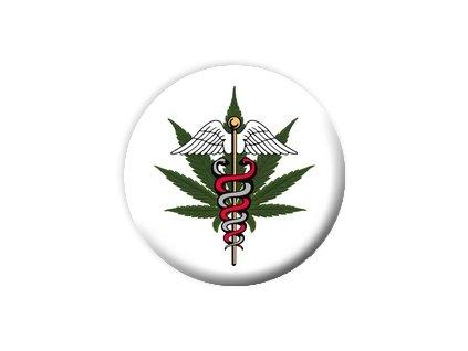 Placka Marihuana 25mm (016)