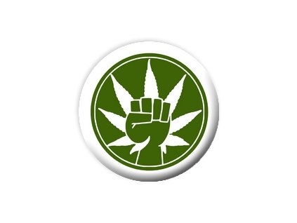 Placka Marihuana 25mm (020)