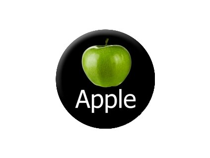 Placka Apple 25mm (023)