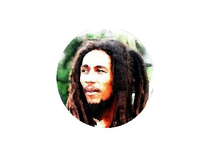 Placka Bob Marley 25mm (024)
