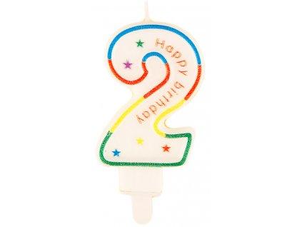 Narozeninová svíčka číslo 2 (7633)