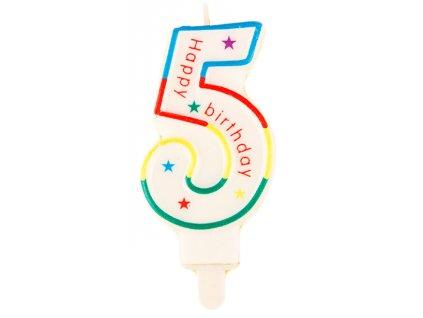 Narozeninová svíčka číslo 5 (7633)