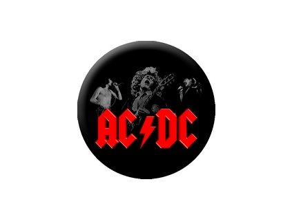 Placka ACDC 25mm (034)
