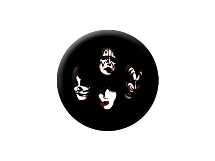 Placka Kiss 25mm (038)