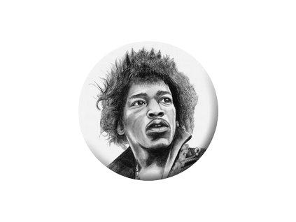 Placka Jimi Hendrix 25mm (071)