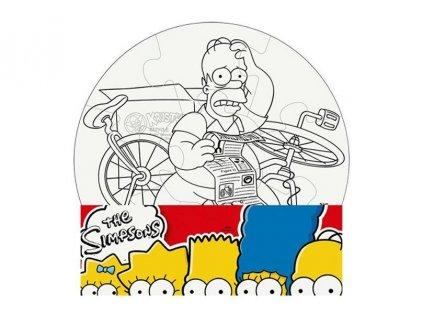 Puzzle The Simpsons vymaluj si kruh 28 cm (2502)