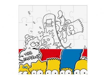 Puzzle The Simpsons vymaluj si čtverec 25x25 cm (2526)