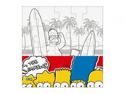 Puzzle The Simpsons vymaluj si malý čtverec 20 dílků (2533)