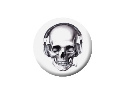 Placka Sound Skull 25mm (109)