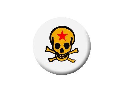 Placka Skull Red Star 25mm (112)