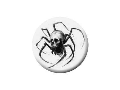 Placka Spider Skull 25mm (137)