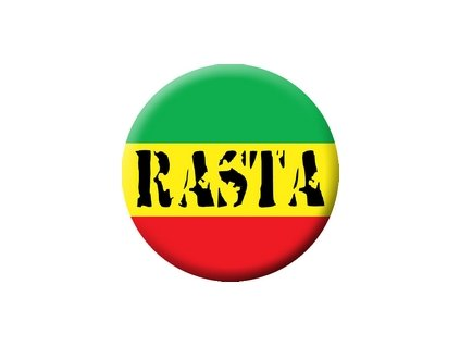 Placka Rasta 25mm (141)
