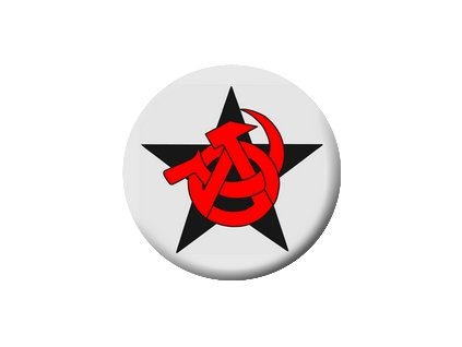 Placka Anarcho Communism 25mm (153)