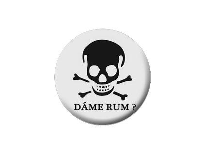 Placka Dáme rum 25mm (155)