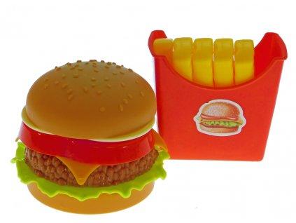 Sada Fastfood - Hamburger a hranolky (7096)