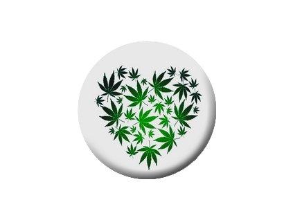 Placka Marihuana 25mm (177)