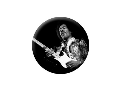 Placka Jimmy Hendrix 25mm (192)