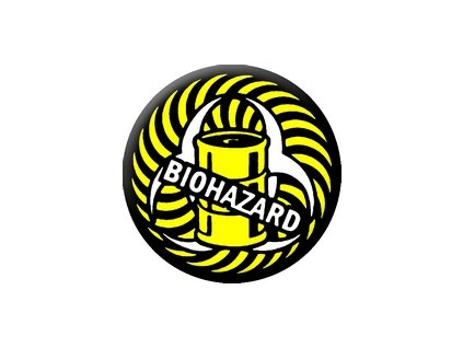 Placka Biohazard 25mm (207)