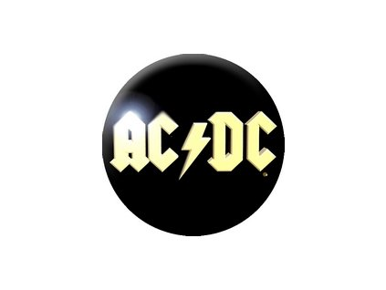 Placka ACDC 25mm (212)