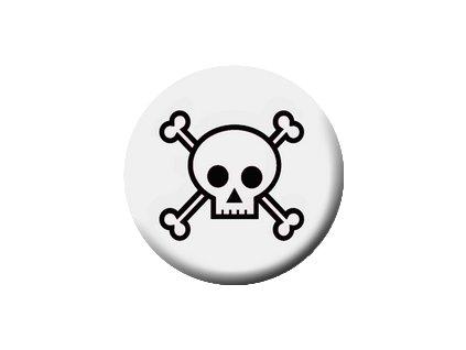 Placka Skull 25mm (216)