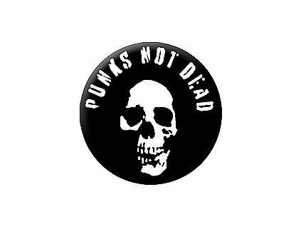 Placka Punk Not Dead 25mm (228)