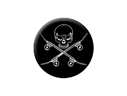 Placka Skull Skate 25mm (263)