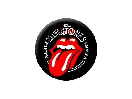 Placka Rolling Stones 25mm (270)