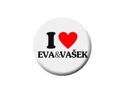 Placka Eva a Vašek 25mm (277)