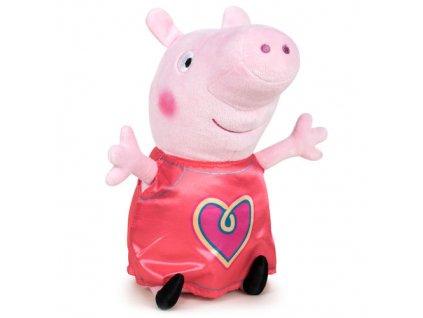PLYŠ Prasátko Peppa Pig 20 cm srdíčko (5940)