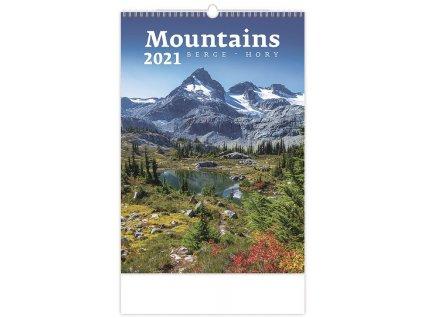 Nástěnný kalendář Mountains 2021 (6611)