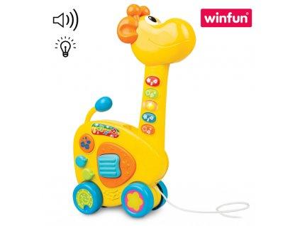 Žirafa tahací/kytara na baterie (0899)