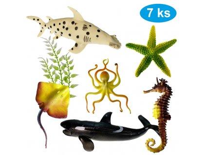 Mořský svět sada 7 figurek 9 - 16 cm (8386)
