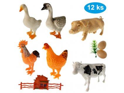 Sada zvířátek Farma 12 ks (8393)
