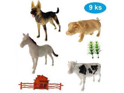 Sada zvířátek Farma 9 ks (8409)